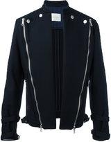 Pierre Balmain diagonal zips open jacket