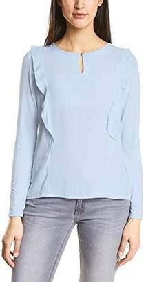Street One Women's 311884 Longsleeve T - Shirt, Blue (Morning Blue 112)