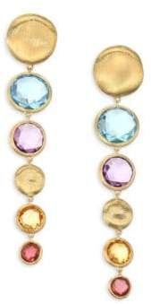 Marco Bicego Jaipur Semi-Precious Multi-Stone Graduated Drop Earrings