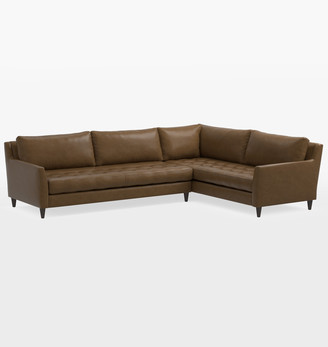 Rejuvenation Hastings Classic Sectional Leather Sofa - Left Arm