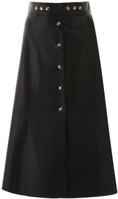 Prada Buttoned A-Line Midi Skirt