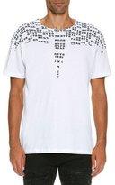 Marcelo Burlon County of Milan Rey Numbers-Print T-Shirt, White