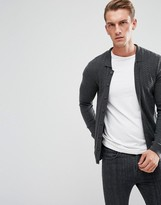 Asos Polo Neck Cardigan In Merino Wool Mix