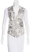 Hermes Silk Floral Print Vest