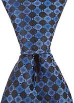 Murano Puzzle Circle Traditional Silk Tie