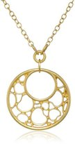 """T Tahari Lace Of Hearts"""" Gold-Tone Pendant Necklace, 18"""""""