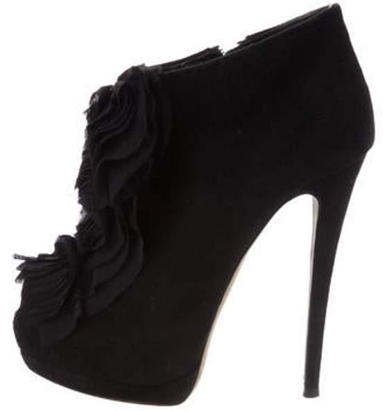 Giuseppe Zanotti Peep-Toe Ankle Boots Black Peep-Toe Ankle Boots