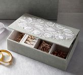Pottery Barn Sabine Embroidered Small Jewelry Box