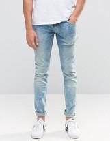 Pepe Jeans Pepe Finsbury Skinny Jeans D31 Bleach Wash