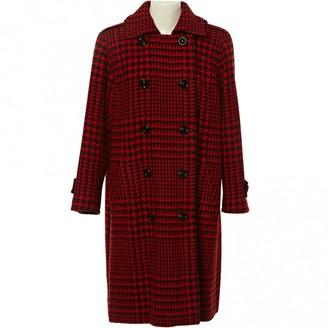 Saint Laurent Red Wool Coat for Women Vintage