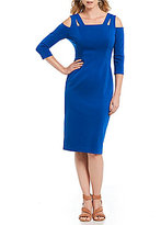 Maggy London Cold Shoulder Midi Sheath Dress