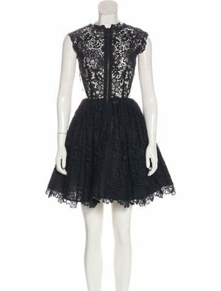 Maria Lucia Hohan Lace Sleeveless Dress Black