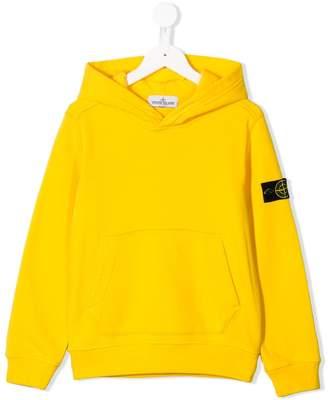 Stone Island Junior logo pullover hoodie