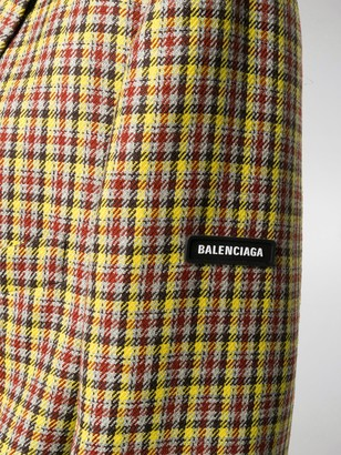Balenciaga Check Double-Breasted Coat