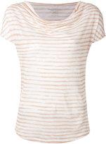 Majestic Filatures cowl neck stripe T-shirt