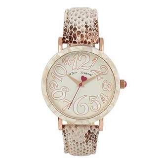 Betsey Johnson Women's Japanese Quartz Watch with Cloth Strap