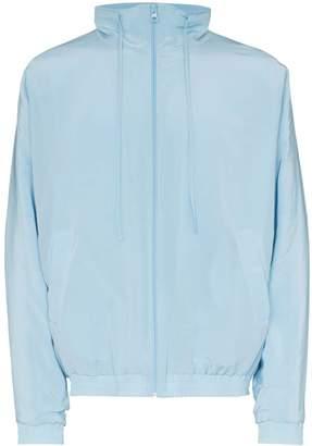 Jacquemus zip up silk track jacket