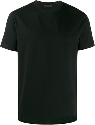 Prada embroidered logo T-shirt