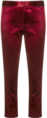Ann Demeulemeester Cropped Velvet Trousers