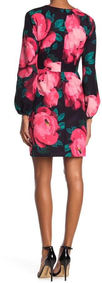 Thumbnail for your product : trina Trina Turk Aymeli Floral Long Sleeve Sheath Dress