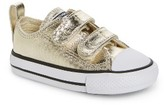 Converse Infant Girl's Chuck Taylor All Star 2V Metallic Low-Top Sneaker