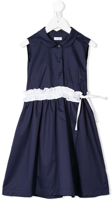 Il Gufo Contrast Ruffle Dress