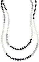 Charter Club Tri-Color Imitation Pearl Extra-Long Strand Necklace, Only at Macy's