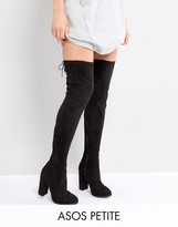 Asos KINGSHIP PETITE Heeled Over The Knee Boots