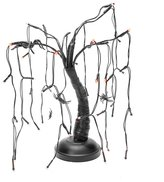 Kurt Adler 15-Inch Black Battery-Operated LED Tree