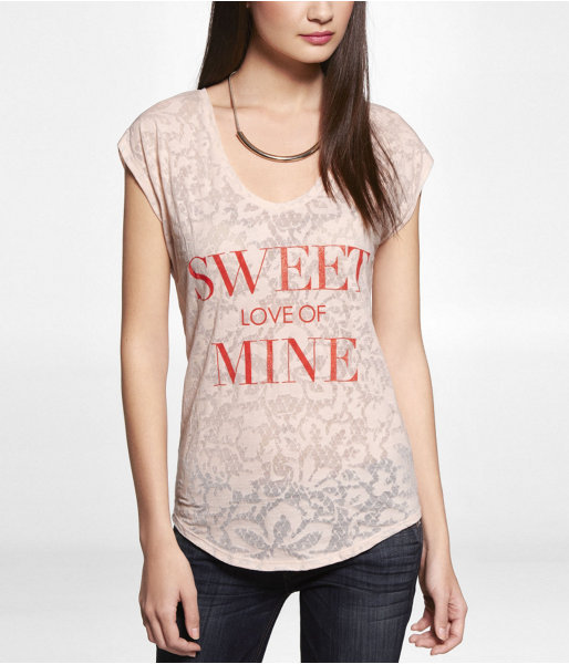 Express Burnout Graphic Tee - Sweet Love