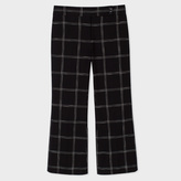 Paul Smith Women's Black Windowpane Check Oxford-Cotton Trousers