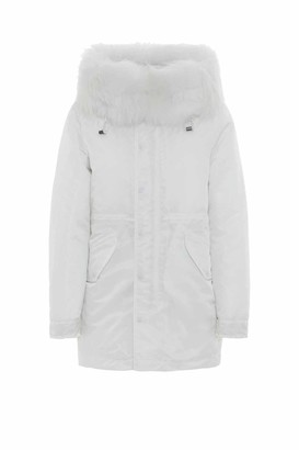 Mr & Mrs Italy Total White New York Warm Parka Midi For Woman