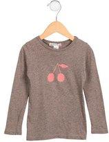 Bonpoint Girls' Cherry Print Long Sleeve Top