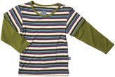 Kickee Pants Print Double Layer Tee (Baby) - Bobsled Stripe-3-6 Months