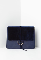 Missguided Navy Thread Through Clutch Bag