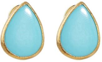 Gurhan 24kt gold Rune stud earrings