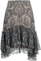 Chloé tile print ruffled skirt