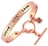BCBGeneration Spoken Words Glitz and Rose Goldtone Bangle Bracelet