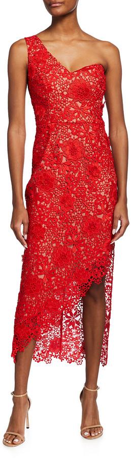 Dress the Population Magnolia V-Neck Floral Lace Sheath Dress