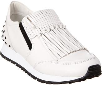 Tod's Fringe Leather Slip-On Sneaker