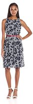 Ronni Nicole Women's Sleeveless Belted Gingham Dress