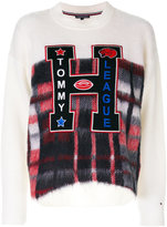 Tommy Hilfiger checked front jumper with appliqué