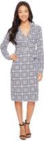Pendleton Medallion Print Wrap Knit Dress