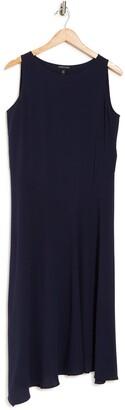 Eileen Fisher Georgette Silk Crepe Scoop Neck Dress