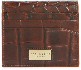 Ted Baker Plups Croc Embossed Leather Bifold Card Wallet