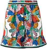 Emilio Pucci elasticated waistband printed shorts - women - Silk - 40