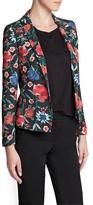 MANGO Outlet Floral Print Blazer