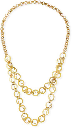 Devon Leigh Chain 2-Layer Long Necklace