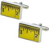 Link Up Enameled Ruler Cuff Links, Yellow