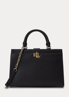 Ralph Lauren Pebbled Leather Laine Satchel
